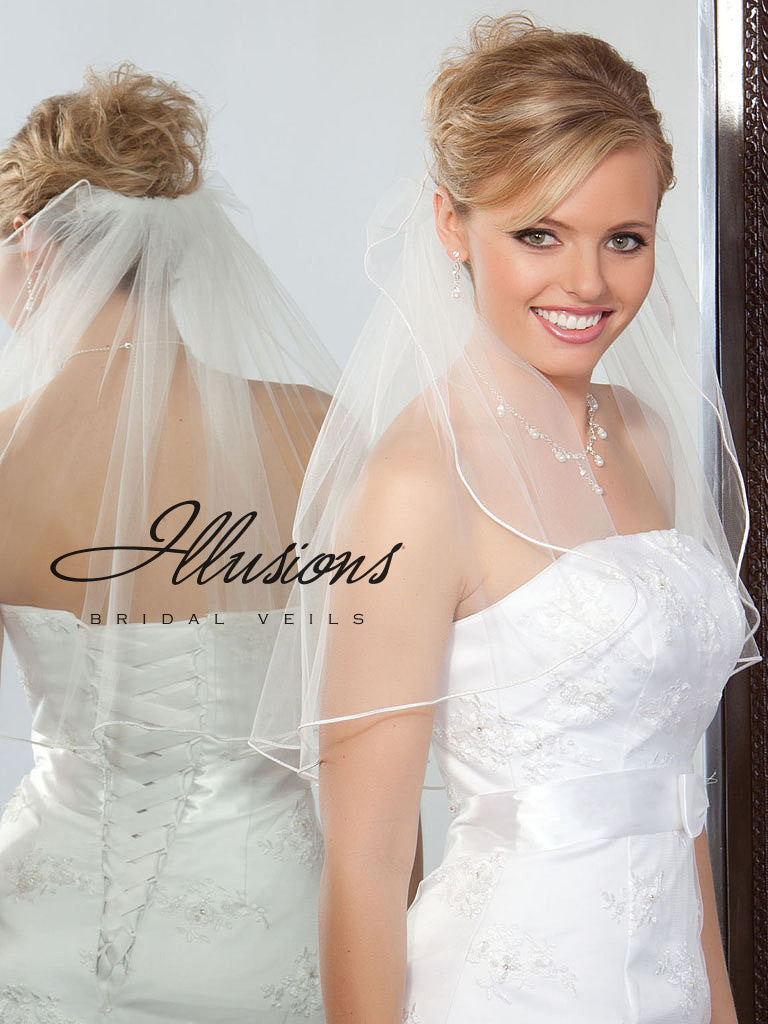 Illusion Bridal Shoulder Length 1-201-RT