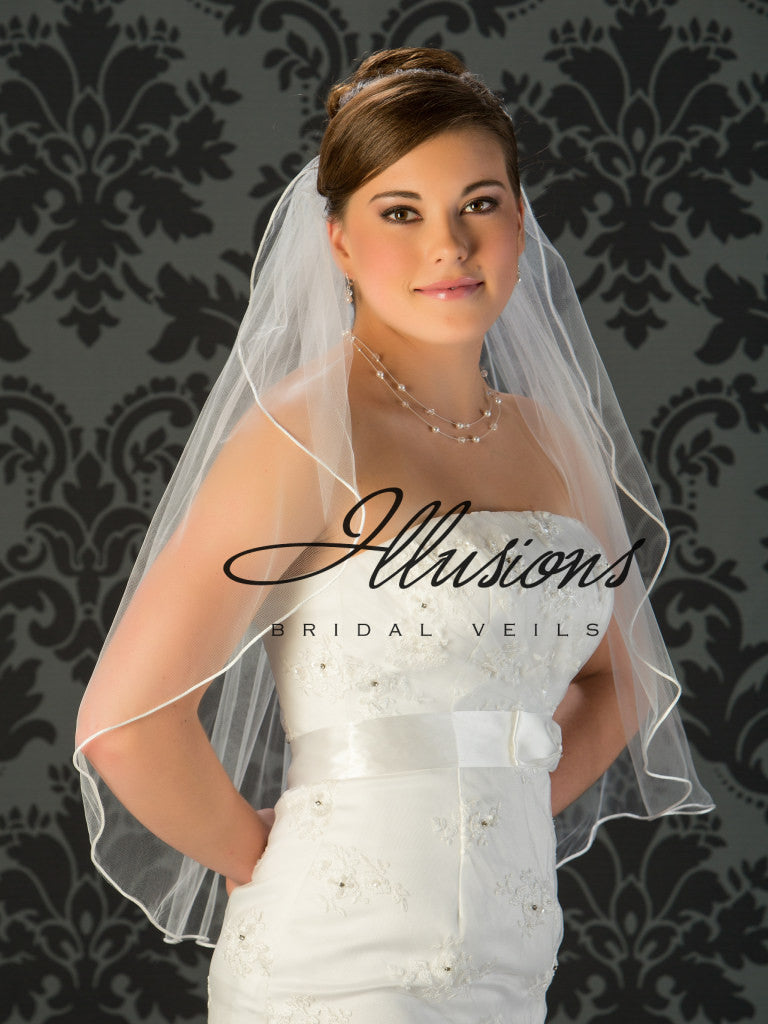 Illusion Bridal Waist Length Veil 1-301-RT