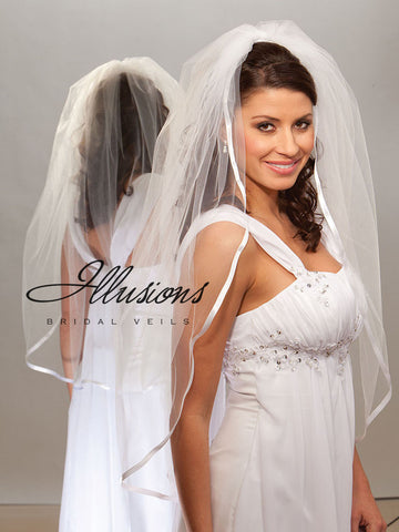 Illusion Bridal Fingertip Length Veil 1-361-3R