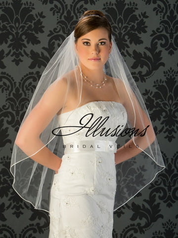Illusion Bridal Fingertip Length Veil 1-361-RT