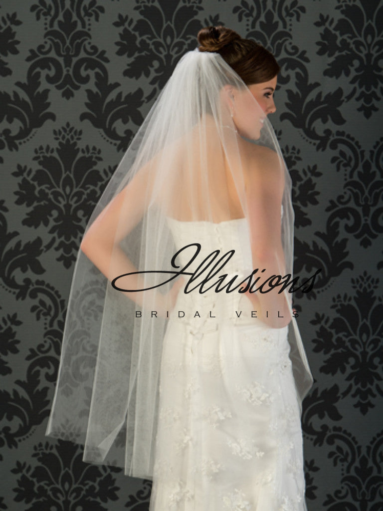 Illusion Bridal Knee Length Veil 1-451-CT