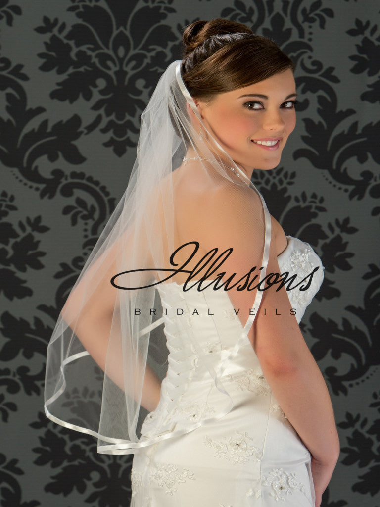 Illusion Bridal Waist Length Veil 5-301-3R