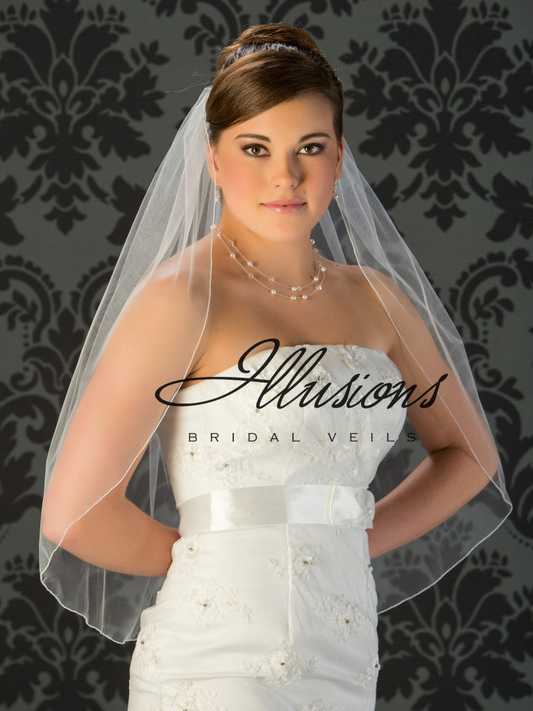 Illusion Bridal Waist Length Veil 5-301-C
