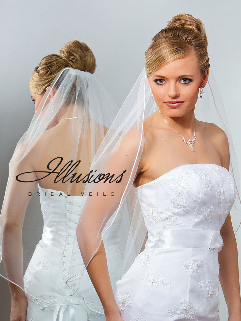 Illusion Bridal Waist Length Veil 5-301-RT
