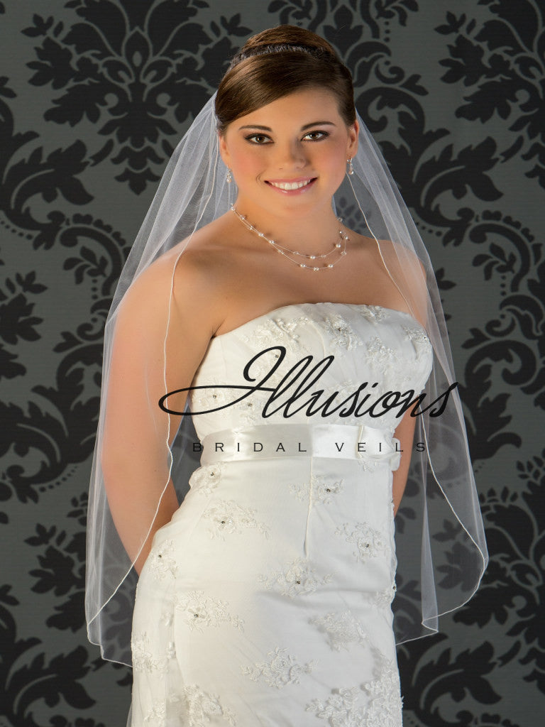 Illusion Bridal Fingertip Length Veil 5-361-C