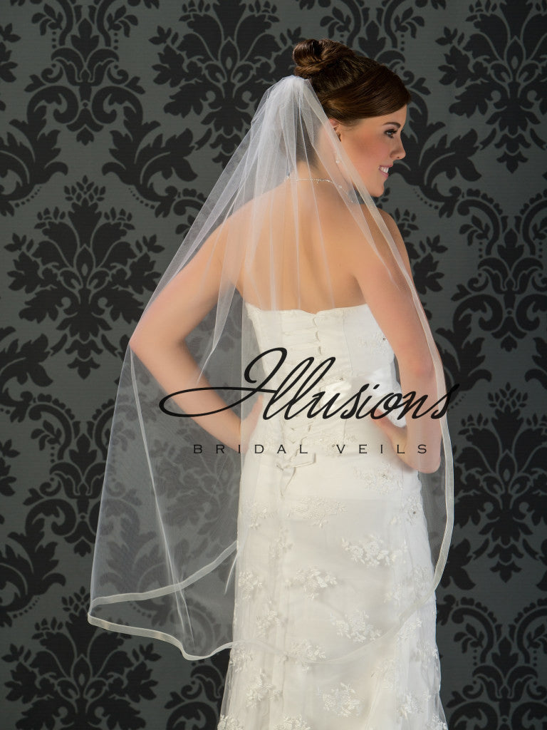 Illusion Bridal Knee Length Veil 5-451-SR