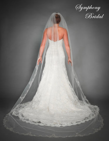 Symphony Cathedral Length Veil 6432VL