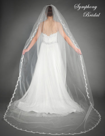 Symphony Cathedral Length Veil 6439VL