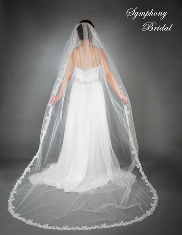 Symphony Cathedral Length Veil 6441VL