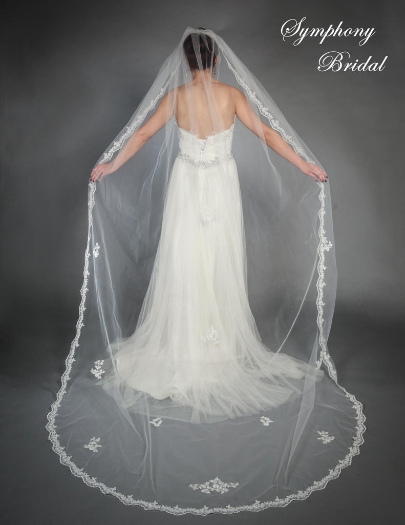 Symphony Cathedral Length Veil 6444VL