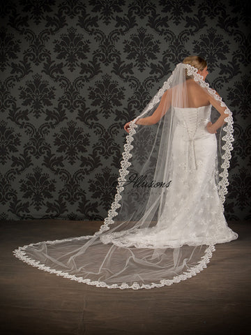 Illusion Bridal Chapel Length Veil 7-1081-7L