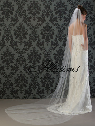 Illusion Bridal Chapel Length Veil 7-1081-CT
