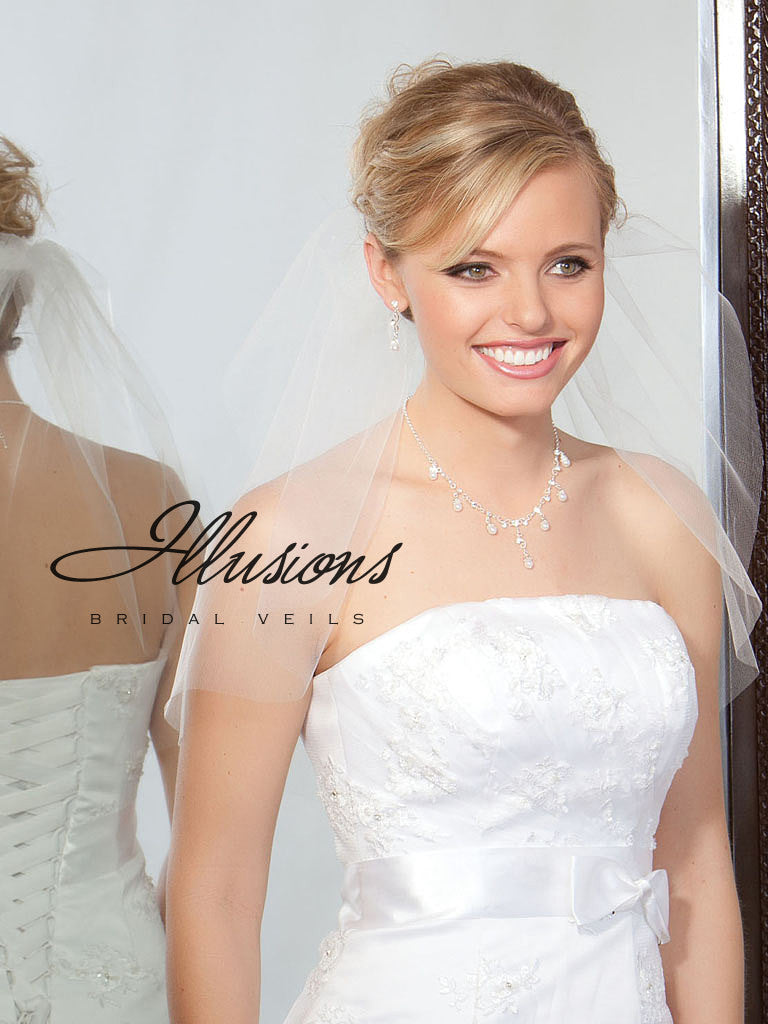 Illusion Bridal Shoulder Length 7-201-CT