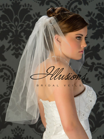 Illusion Bridal Elbow Length  7-251-CT