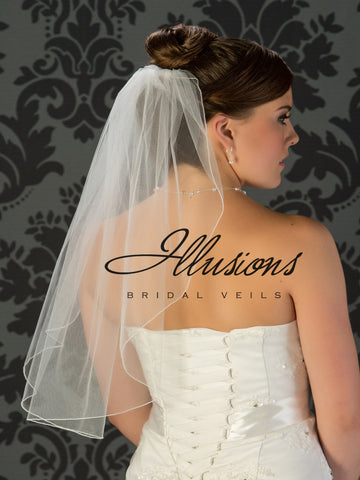Illusion Bridal Elbow Length  7-251-C