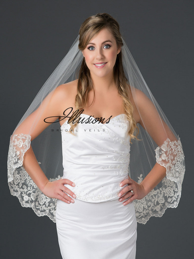 Illusion Bridal Waist Length 7-301-B10L