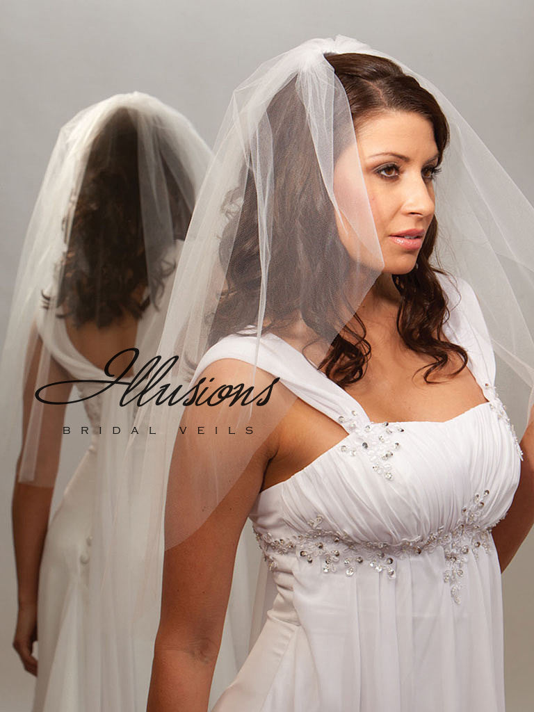 Illusion Bridal Waist Length Veil 7-301-CT