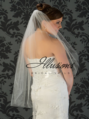 Illusion Bridal Fingertip Length Veil 7-361-CT