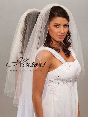 Illusion Bridal Fingertip Length Veil 7-361-C