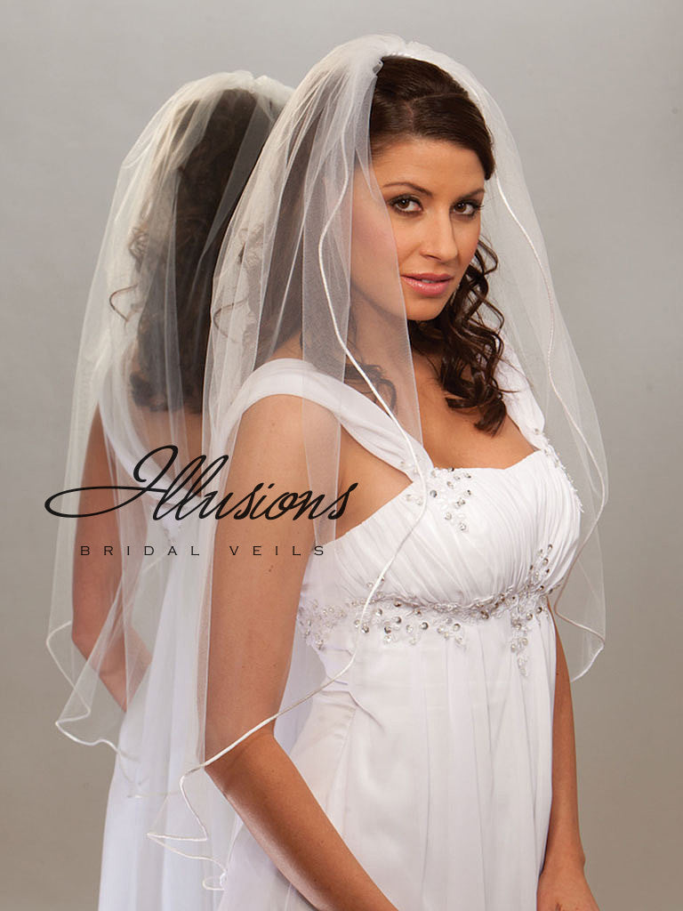 Illusion Bridal Fingertip Length Veil 7-361-RT