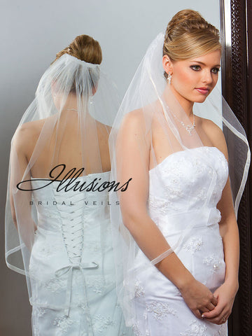 Illusion Bridal Fingertip Length Veil 7-361-SR