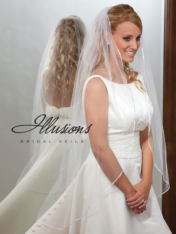 Illusion Bridal Knee Length Veil  7-451-1R