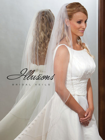 Illusion Bridal Knee Length Veil  7-451-P