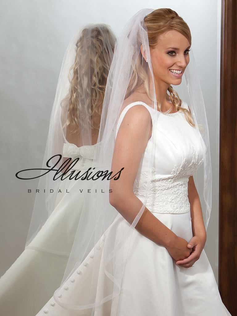 Illusion Bridal Knee Length Veil  7-451-SR
