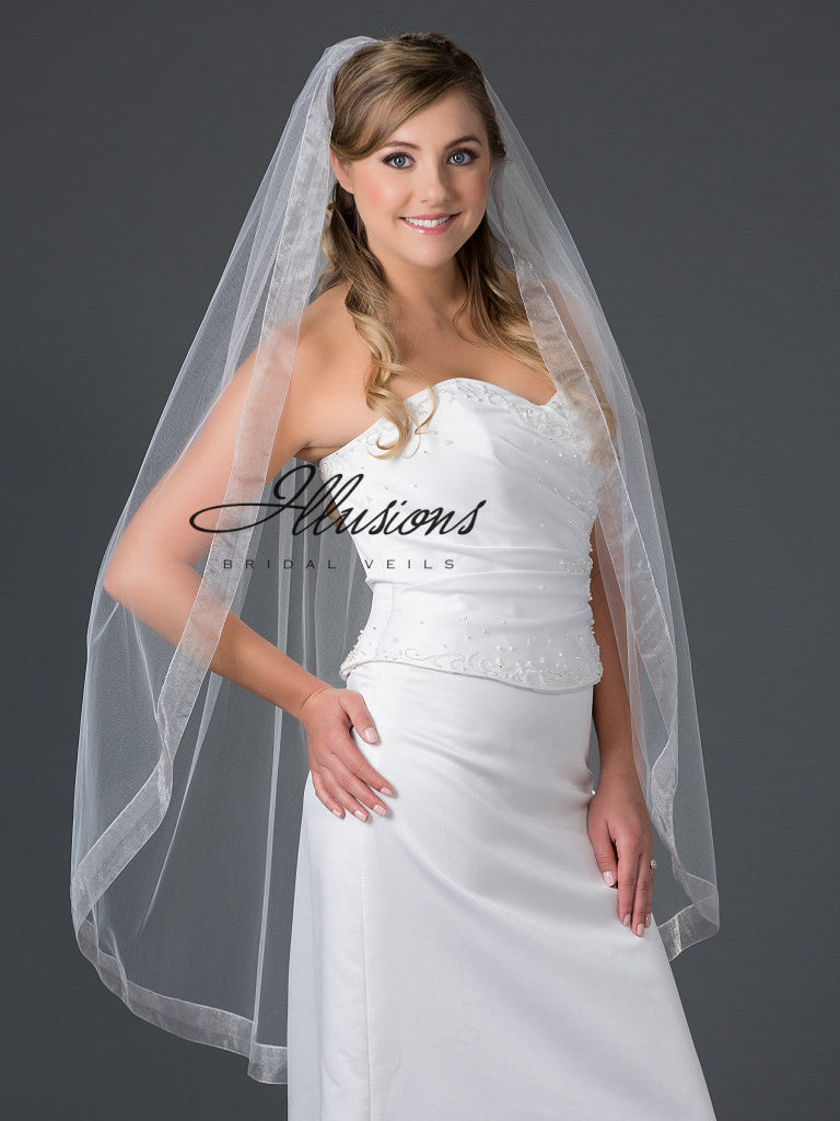 Illusion Bridal Knee Length Veil 7-451-VR