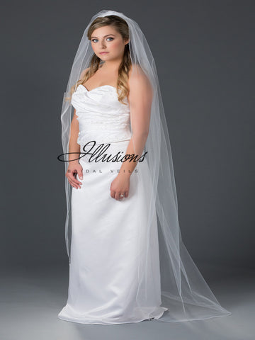Illusion Bridal Floor Length Veil 7-721-C