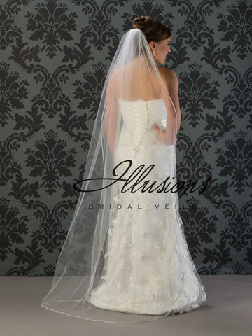 Illusion Bridal Floor Length Veil 7-721-RS
