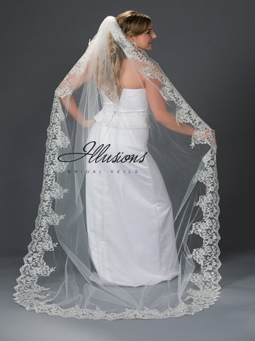 Illusion Bridal Chapel Length Veil 7-901-10L