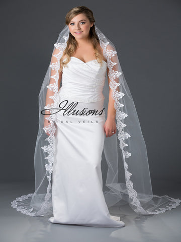 Illusion Bridal Chapel Length Veil 7-901-3L