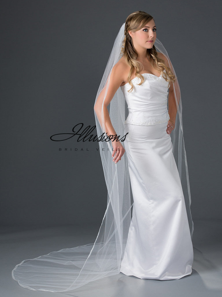 Illusion Bridal Chapel Length Veil 7-901-SR