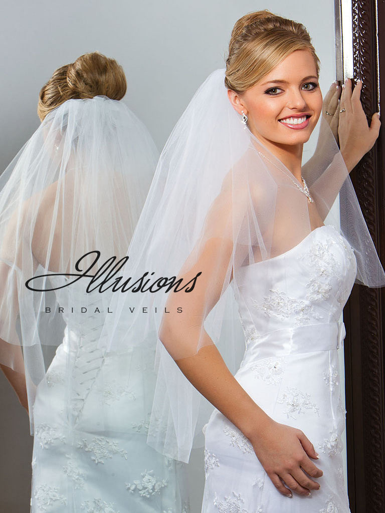Illusion Bridal Waist Length Veil C1-302-CT