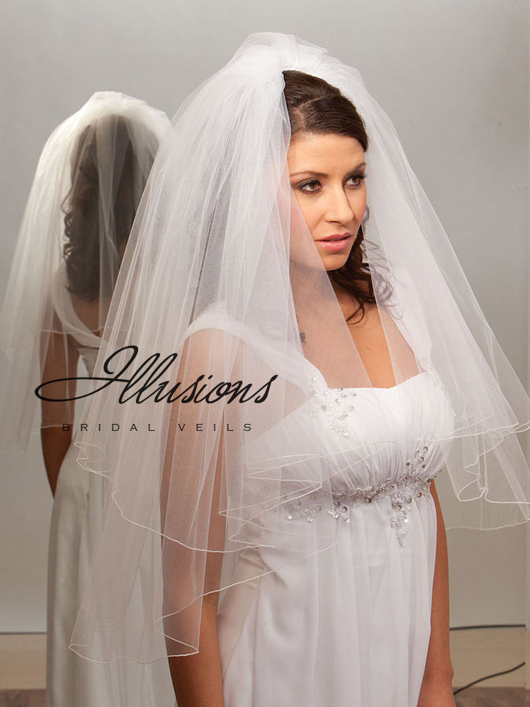 Illusion Bridal Waist Length Veil C1-302-C