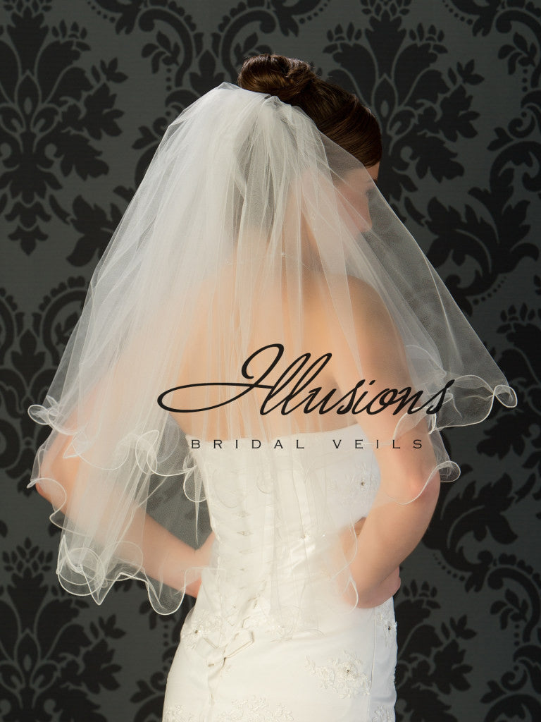 Illusion Bridal Waist Length Veil C1-302-F
