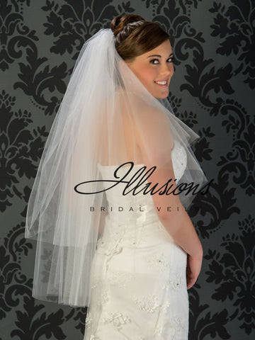 Illusion Bridal Fingertip Length Veil C1-362-CT