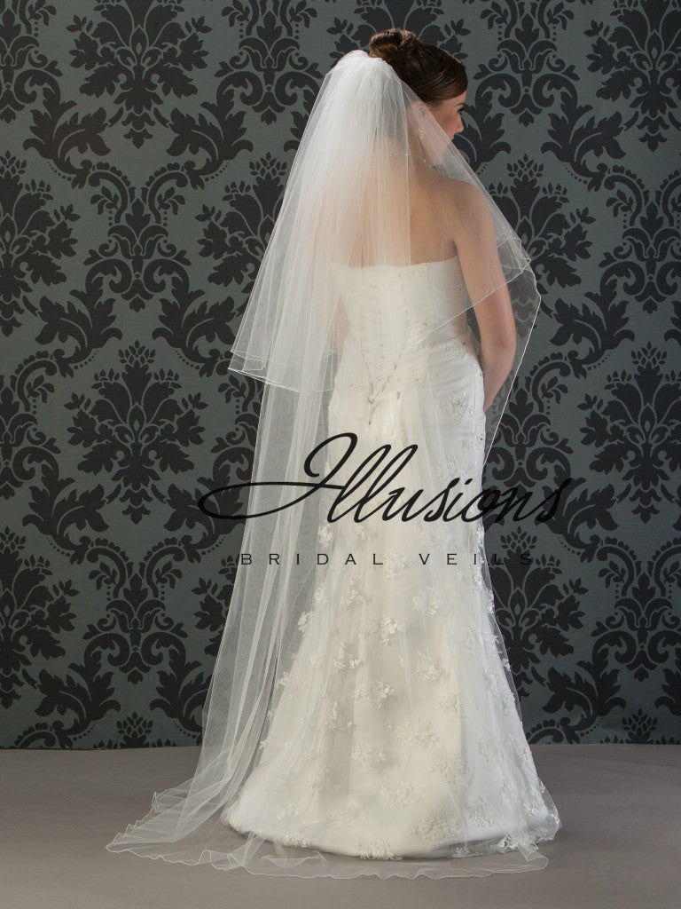 Illusion Bridal Chapel Length Veil C1-722-C