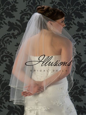 Illusion Bridal Fingertip Length Veil C5-362-P