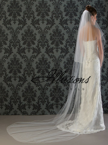 Illusion Bridal Chapel Length Veil C7-1082-C