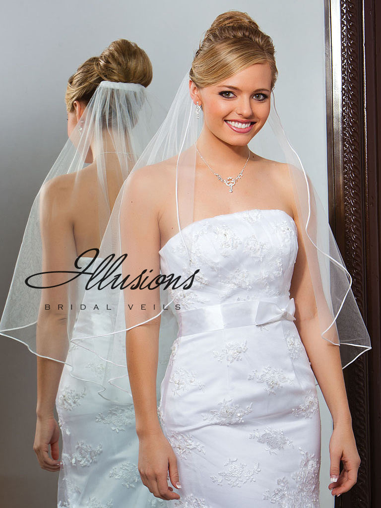 Illusion Bridal Waist Length Veil C7-301-ST