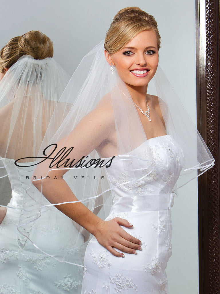 Illusion Bridal Waist Length Veil C7-302-1R