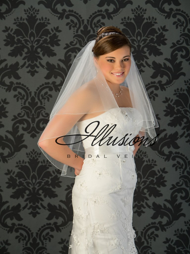 Illusion Bridal Waist Length Veil C7-302-C