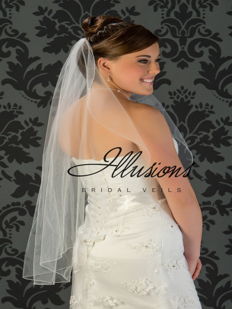 Illusion Bridal Fingertip Length Veil C7-361-C
