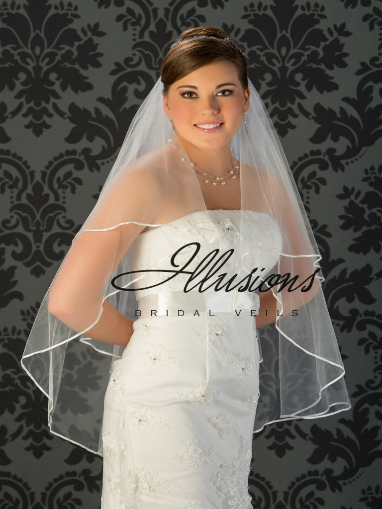 Illusion Bridal Fingertip Length Veil C7-362-1R