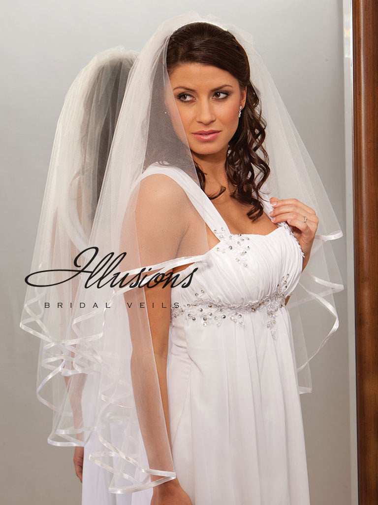 Illusion Bridal Fingertip Length Veil C7-362-3R