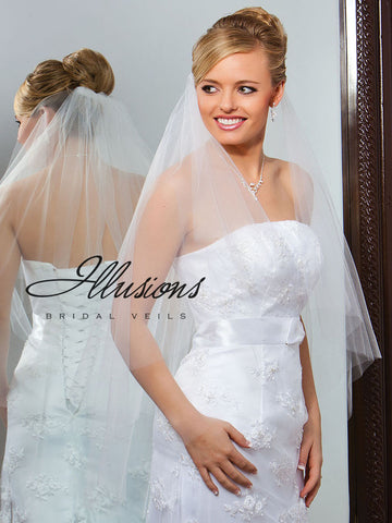 Illusion Bridal Fingertip Length Veil C7-362-CT