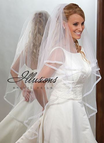 Illusion Bridal Knee Length Veil C7-452-1SR