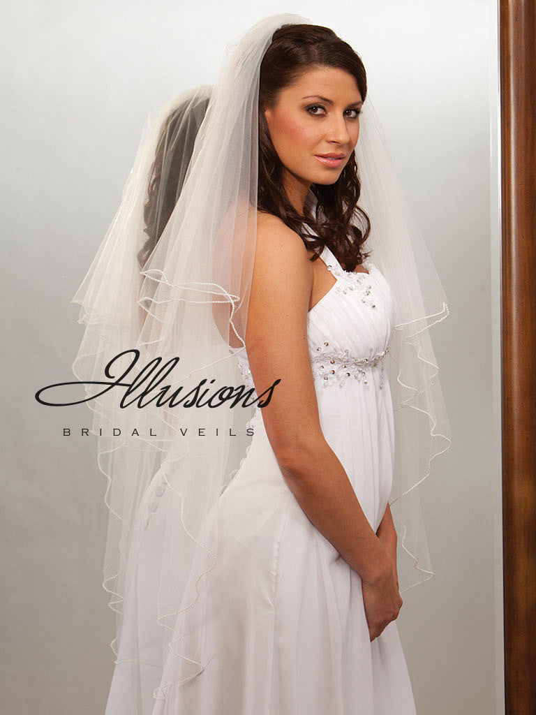 Illusion Bridal Knee Length Veil C7-452-P